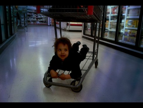 cart surfing.framed