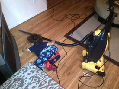 vacuum for mommy!