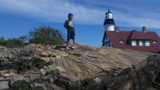 rock climbing @ portland head light